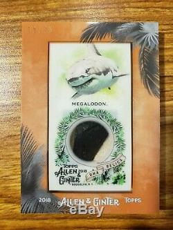 2018 Topps Allen and Ginter Mini DNA Relics #DNARMT Megalodon Tooth/25