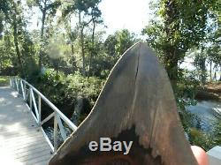 5 13/16 Megalodon Tooth St Catherine Sound Ga Serration Shark Color NO REPAIR