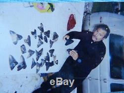 6 5/16 X 5 9/16 Flappa Megalodon Tooth Shark Authentic Found by Vito Bertucci