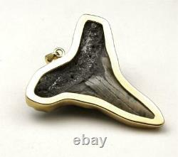 Charles Albert Gold Alchemia Giant Megalodon Shark Tooth Necklace Pendant Signed